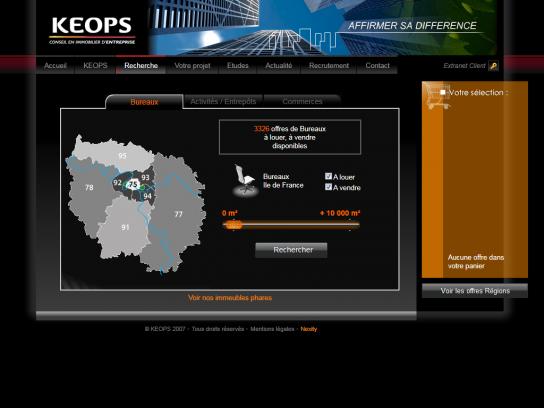 Keops : Agence immobilière professionnels
