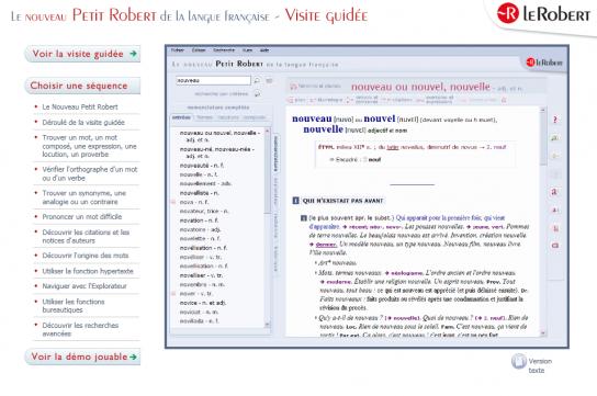 Le Robert : Editeur de dictionnaires papier et numériques