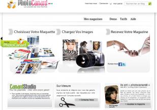 Photocanard : Création de magazines en ligne